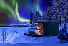 alaska igloo alaska northern lights - Google Search Lapland Northern Lights, See The Northern Lights, Aurora Borealis, Jacuzzi, Lapland Holidays, Portal, Glass Cabin, Finland Travel, Secret Escapes