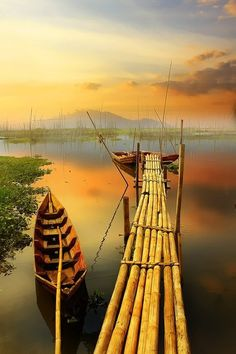 Bamboo Dock, Indonesia | Amazing Pictures - Amazing Pictures, Images, Photography from Travels All Aronud the World