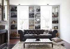 The designer pares back on color for a neutrals-based decorating scheme that lets vintage items shine