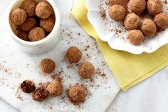 Boost flagging energy levels with these quick and easy Data, cacao and coconut truffles.