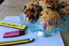 Need a brain boosting recipe to help erase all that revision stress... try bake our Blueberry, oat and banana muffins.