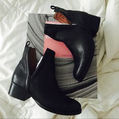 JEFFREY CAMPBELL ORILEY CUTOUT BOOTS / black sz 7 Selling a pair of gently loved Jeffrey Campbell ORILEY Cutout boots, only worn 3-4 times so they're in great condition. Authentic Jeffrey Campbells, box and dust bags included. I purchased these at Urban Outfitters a few months ago and just haven't worn them enough. $130 or your best offer.  If you have any questions leave a comment!  Jeffrey Campbell Shoes Ankle Boots & Booties
