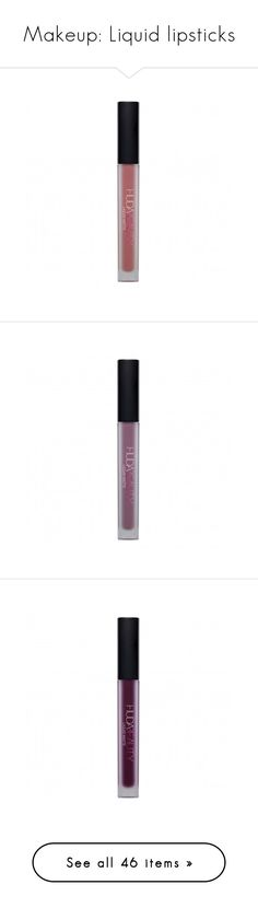 """""""Makeup: Liquid lipsticks"""" by katiasitems on Polyvore featuring beauty products, makeup, lip makeup, lipstick, commited, lips, thebalm, lip gloss, beauty and minx"""