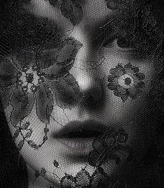 Black lace Face by Melvin Sokolsky