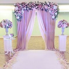 x Adjustable Heavy Duty Pipe and Drape Kit Backdrop Support with Weighted Steel Base Hintergrund Hintergrund Stand Support Kit – x mit Weighted Base Lilac Wedding, Wedding Colors, Wedding Flowers, Dream Wedding, Purple Wedding Decorations, Spring Wedding, Quince Decorations, Wedding Stage, On Your Wedding Day
