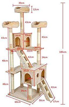 Cat Tree House, Cat House Diy, Cat Tree Designs, Diy Cat Tower, Cool Cat Trees, Cat Towers, Cat Playground, Cat Scratching Post, Cat Climbing