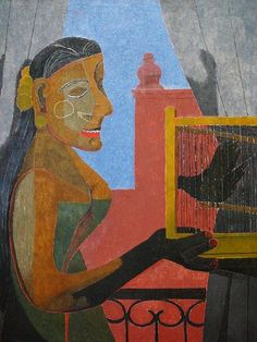 Woman with a Bird Cage - Rufino Tamayo