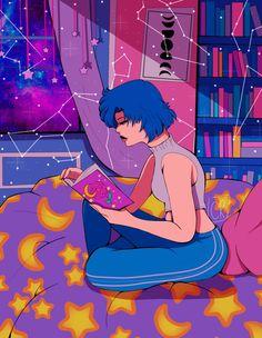 Sailor Mercury by on DeviantArt Sailor Mercury, Sailor Moon Crystal, Deviantart, Anime, Cartoon Movies, Anime Music, Animation, Anime Shows
