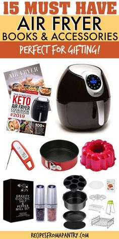 The Air Fryer is a must-have for anyone looking to cook up healthier versions of beloved fried foods. And this Air Fryer. Cookbooks For Beginners, Recipes For Beginners, Air Fryer Dinner Recipes, Air Fryer Recipes, Unique Gifts For Girls, Best Air Fryers, Cocktails, Best Cookbooks, Air Fryer Healthy