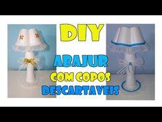 DIY abajur com copos descartáveis ( Centro de mesa chá de bebê) - YouTube