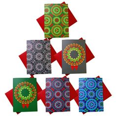 brussels sprouts pattern christmas cards pack of 6 by hokolo - Non Photo Christmas Cards