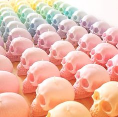 Pastel skull candles