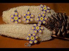 """Браслет и серьги из бисера """"Цветочное поле"""".Бисероплетение. Мастер класс / Bracelet and earrings - YouTube"""