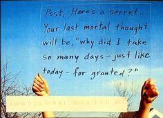 PostSecret.com - A secret to make me smile