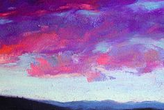 Deborah Secor, artist and frequent contributor to The Pastel Journal, paints a sky at sunset. Soft Pastels, Sky, Sunset, Drawings, Artist, Painting, Journal, Clouds, Nice Asses