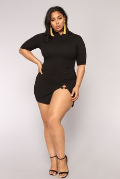 Fashion Nova has of plus size dresses for women. Shop plus size cocktail dresses, long dresses, bodycon dresses for your next gram-worthy going out look. Shop our sale items for cheap plus size dresses online! Curvy Outfits, Plus Size Outfits, Plus Sise, Pernas Sexy, Side Slit Dress, Modelos Plus Size, Swimsuits For Curves, Curves Clothing, Size Clothing