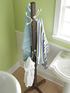 I'm thinking also a great idea on the patio for pool towel storage