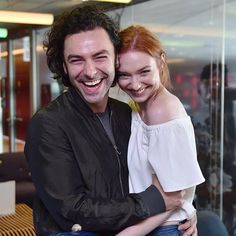 Aidan Turner and Eleanor Tomlinson. Can you just be a couple in real life already? Please? Thank you.