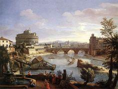 The Castel Sant'Angelo, Rome, 1690