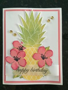 Pineapple Birthday Card, by Kathleen Smith