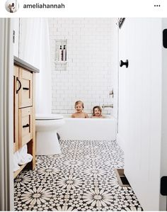 This floral bathroom tile is so pretty! - M Loves M M Loves M - This floral bathroom tile is so pretty! – M Loves M M Loves M This floral bathroom tile is so pretty! – M Loves M M Loves M Bathroom Floor Tiles, Bathroom Renos, Modern Bathroom, Bathroom Remodeling, Remodel Bathroom, Bathroom Inspo, Dyi Bathroom, Tub Remodel, Minimalist Bathroom