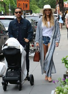 Pin for Later: Chrissy Teigen and John Legend Have a Sexy Date Night After Taking a Stroll With Baby Luna