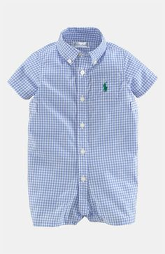 Ralph Lauren Gingham Romper (Baby) available at #Nordstrom