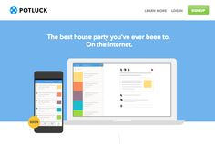 """POTLUCK: The best house party you've ever been to. On the internet. Potluck, the new social service from Branch Media, isn't about sharing links. Potluck combines public sharing and """"dark social"""" to encourage conversation."""