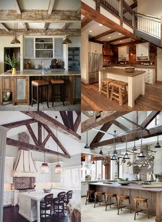 ideas_cocinas_rusticas Ideas Para, Kitchen Island, Mansions, Dining, House, Barn, Home Decor, Rustic Kitchens, Modern Kitchens
