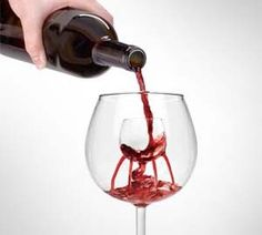 Aerate your wine in a unique way that requires no wine bottle attachments. These unique wine glasses feature a built in aerating fountain in the center that will disperse the wine out over nine different aeration spouts, infusing oxygen into the wine to release more flavor.