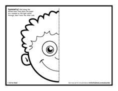 Face line art | Symmetry ART Activity - 5 Free Coloring Pages - Art for Kids