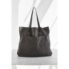 BDG Suede Pocket Tote Bag ($79) ❤ liked on Polyvore