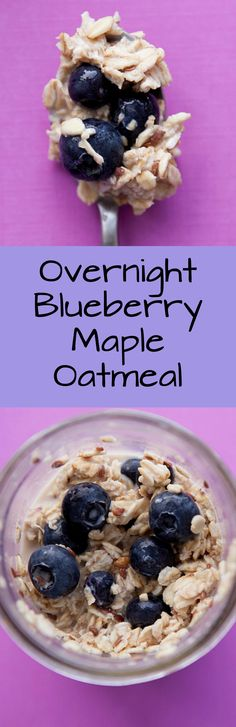 Overnight Blueberry Maple Oatmeal is a quick breakfast that's waiting for you in the morning! Healthy ingredients include oats, blueberries,…
