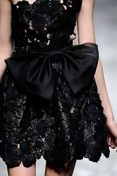 valentino black dress