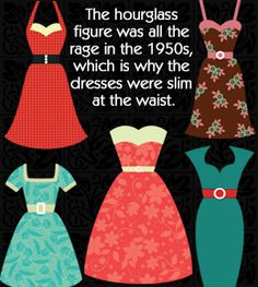 1950s Houglass figure: 1950s fashion for women
