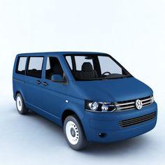 Volkswagen Transporter T5 3D Model .max .c4d .obj .3ds .fbx .lwo .stl @3DExport.com by megagers
