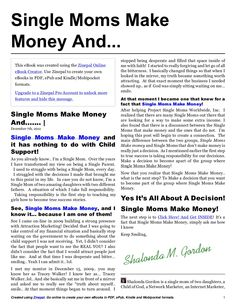 single-moms-make-money-pdf by Shalonda Gordon via Slideshare