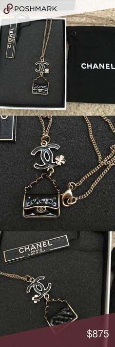 """Authentic CHANEL Classic bag necklace BNEW Chanel necklace. Never used this after I bought it. I have the same earrings.Check my other listing.            Comes with orig. box and pouch.                                           Size: 24"""" long. CHANEL Jewelry Necklaces"""