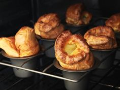 These Yorkshire puddings are designed to rise tall and light with a crisp shell and a lightly chewy center.