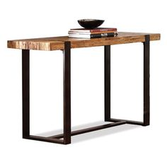 FREE SHIPPING! Shop Joss & Main for your Thurston Console Table. Constructed of solid wormy pine and reclaimed oak with metal legs and framework.Features:Teton collectionTip restraining hardwareThe table top was constructed with two pieces of wood supported by a middle barCollection: TetonStyle: ...