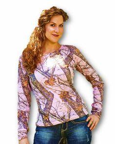 1735546d1 Mossy Oak Pink Top Womens Plus Size Camo Burnout Shirt XXL = 2X 3X Bust 50