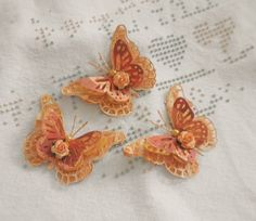 Handmade Shabby Cottage Autumn Fairy Butterfly's Paper Piecing by Becky #Handmade