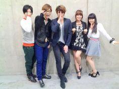 Nobunaga the fool voice actors (Mamoru miyano, Youko Hikasa, Yuuki Kaji and more). Photo by Youko Hikasa blog.