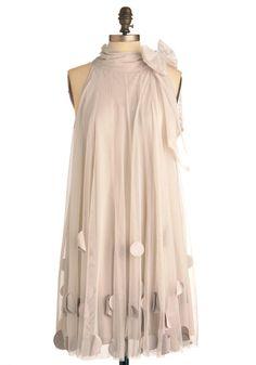 Vintage inspired cream shift dress