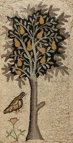 Byzantine Mosaic Panel    5th century AD would make a nice rug