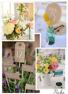 Table-Number-Ideas-Picks - Read more on One Fab Day: http://onefabday.com/simple-chic-table-number-ideas/