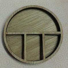 Wood mini circle shadow box no.4