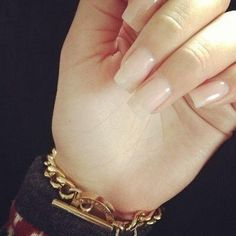 nude nails: do my nails like this most times cause it's less damaging Do It Yourself Nails, How To Do Nails, Gorgeous Nails, Pretty Nails, Nude Nails, Acrylic Nails, Ongles Beiges, Hair And Nails, My Nails