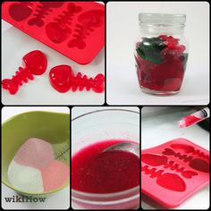 Changed up the recipe cause I don't like the idea of all the artificial stuff in the sugar free jello so I used 1 Kool-aid packet and 3 tablespoons of regular jello. Candy Recipes, Sweet Recipes, Snack Recipes, Yummy Treats, Sweet Treats, Yummy Food, Making Gummy Bears, Sugar Free Jello, Homemade Candies