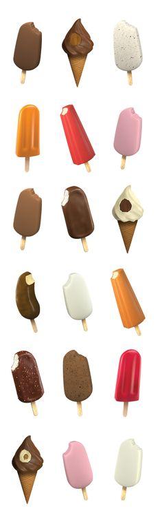 Ice cream on Behance
